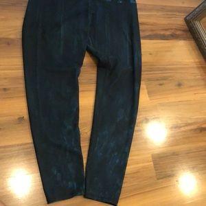 Turquoise snake print leggings